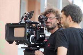 Ambiance tournage du film le nez dans le ruisseau, réalisé par Christophe Chevalier (CH 2011) - Production:  Dominique Rappaz. Avec notamment: Samy Frey, Anne Richard, Jean-Philippe Ecoffey, Bruno Todeschini.